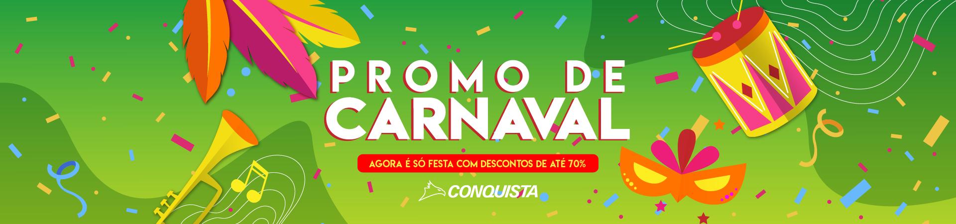 Promo de Carnaval - Até 70% OFF