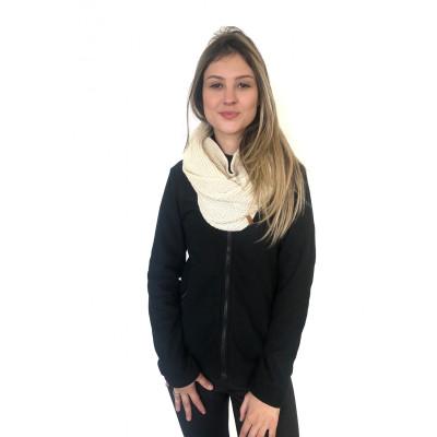 Jaqueta Fleece Glaciar Zíper Inteiro Feminina Personalizada Conquista