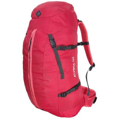 Mochila de Caminhada Alpina 50 litros Conquista - Vermelha